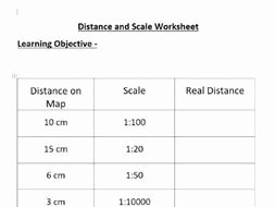 Using A Map Scale Worksheet Fresh Distance and Scales Worksheet by Seanalldread