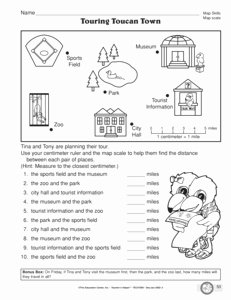 Using A Map Scale Worksheet Luxury 16 Best Of Using A Map Key Worksheets 4th Grade