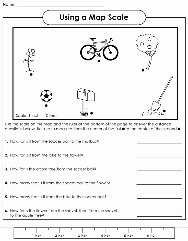 Using A Map Scale Worksheet Luxury Map Scale Worksheet 4th Grade social Stu S