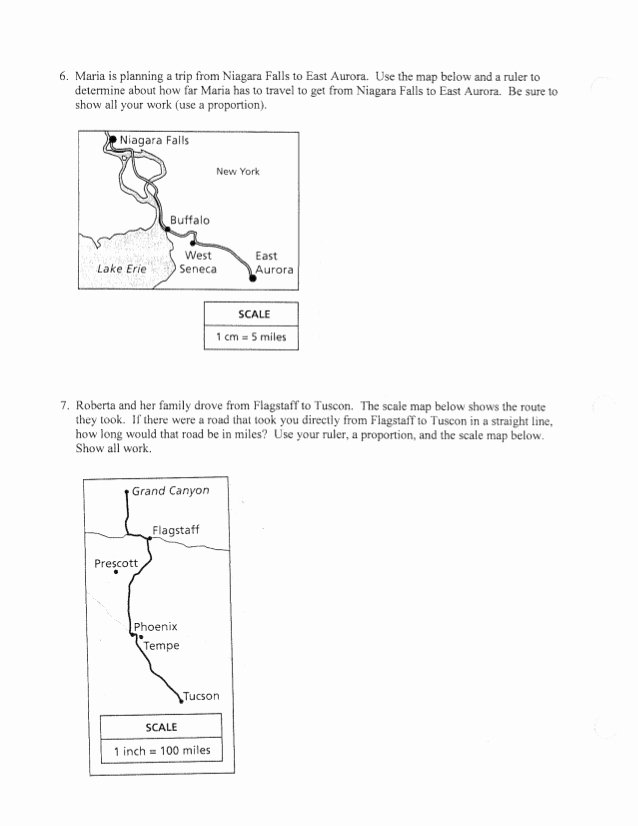 Using A Map Scale Worksheet New Scale Maps Proportions Worksheet