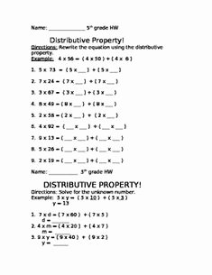 Using the Distributive Property Worksheet Awesome 1000 Images About Number Sense On Pinterest