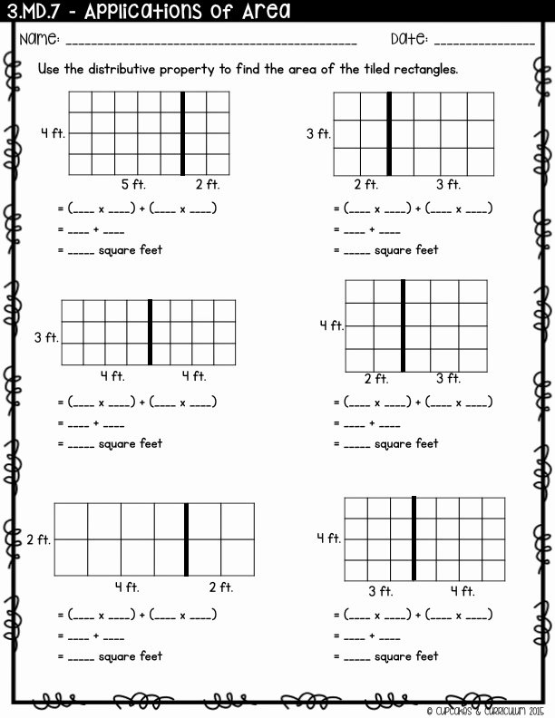 Using the Distributive Property Worksheet Awesome Cupcakes & Curriculum Teaching Distributive Property