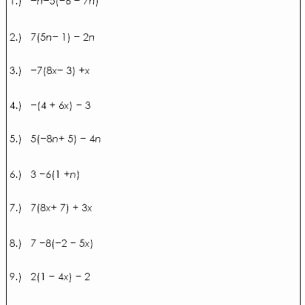 Using the Distributive Property Worksheet Best Of Simplifying Expressions Using Distributive Property