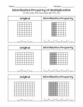 Using the Distributive Property Worksheet Unique Distributive Property Worksheet by Tltussing