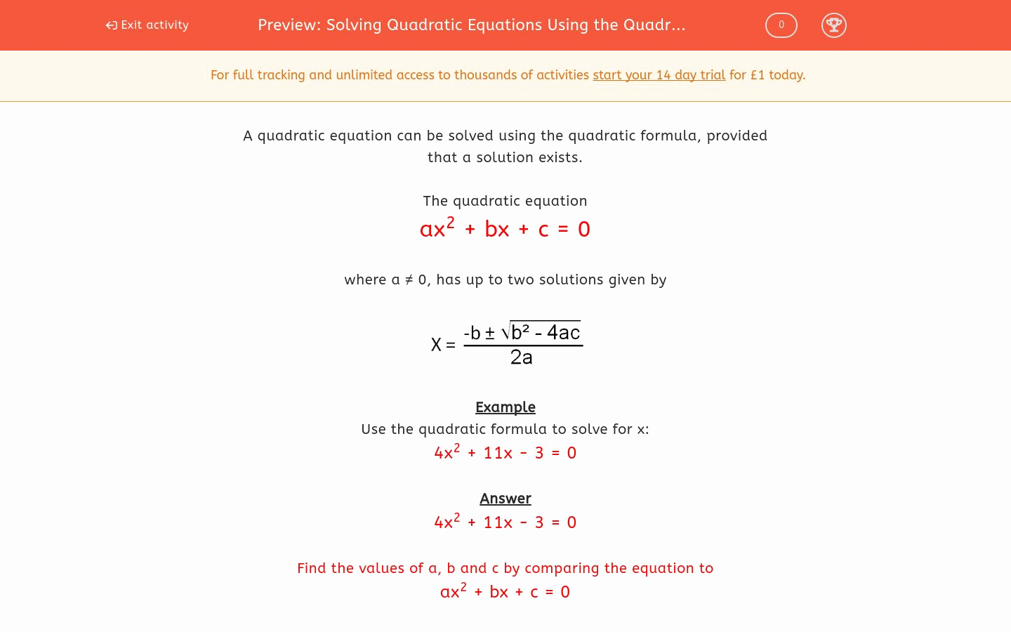 Using the Quadratic formula Worksheet Best Of solving Quadratic Equations Using the Quadratic formula 1