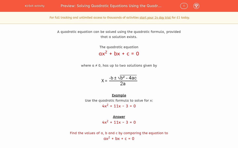 Using the Quadratic formula Worksheet Best Of solving Quadratic Equations Using the Quadratic formula 1