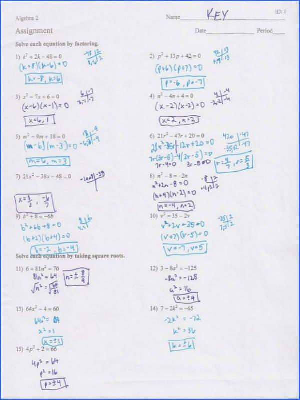 Using the Quadratic formula Worksheet Inspirational solving Quadratic Equations by Factoring Powerpoint Tes