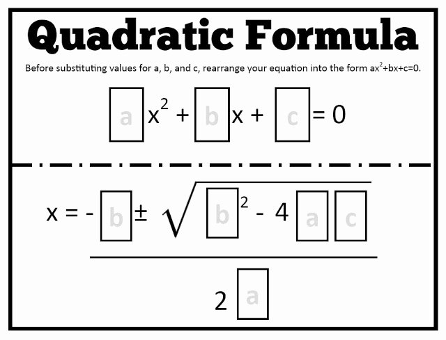 Using the Quadratic formula Worksheet Lovely Math = Love Quadratic formula Templates