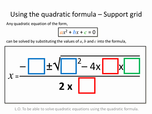 Using the Quadratic formula Worksheet Lovely Quadratic formula Differentiated Worksheets by Zbrearley