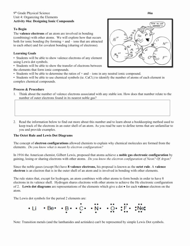 Valence Electrons Worksheet Answers Lovely Valence Electrons Worksheet Answers Chemistry if8766