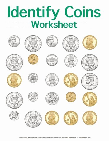 Values Of Coins Worksheet Elegant Customizable and Printable Identifying Coins Worksheet