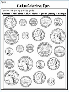 Values Of Coins Worksheet Lovely 30 Identifying Coins and Coin Values Worksheets