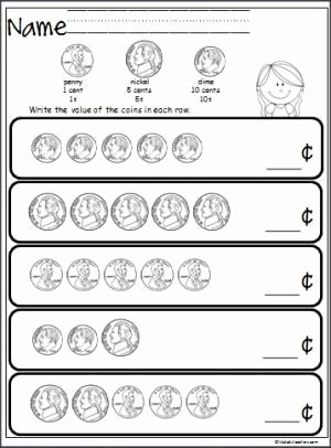 Values Of Coins Worksheet Luxury Free Coin Counting Math Worksheet Students Practice