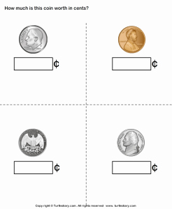 Values Of Coins Worksheet New 30 Identifying Coins and Coin Values Worksheets