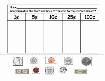 Values Of Coins Worksheet Unique Money Matching by Kinder Keri