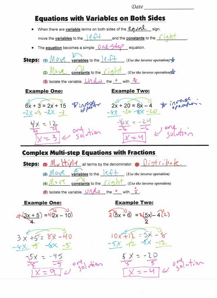 Variables and Expressions Worksheet Answers Luxury 8 Guided