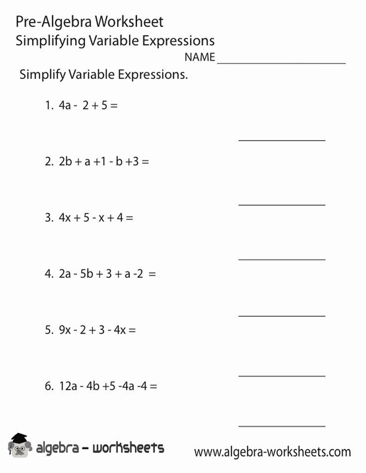 Variables and Expressions Worksheet Answers New 8th Grade Math Worksheets Algebra Google Search