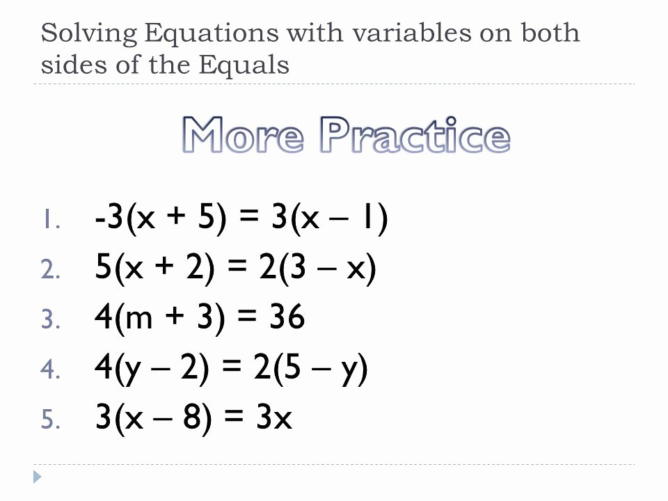 Variables On Both Sides Worksheet Awesome the World S Most Recently Posted Photos Of Variables
