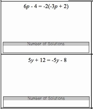 Variables On Both Sides Worksheet Best Of Equations Variables On Both Sides How Many solutions