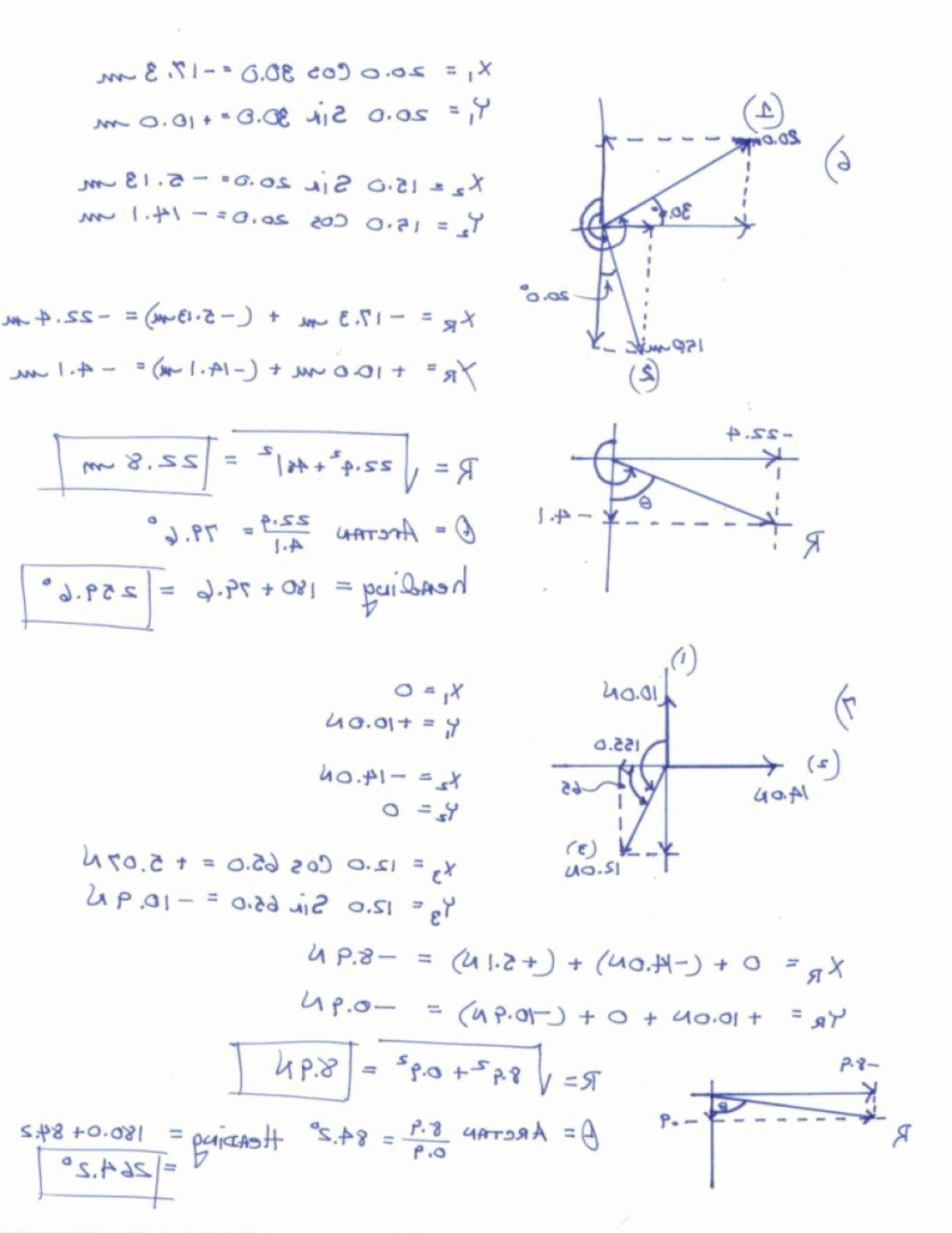 Vector Addition Worksheet with Answers Elegant Resultant Vector Worksheet