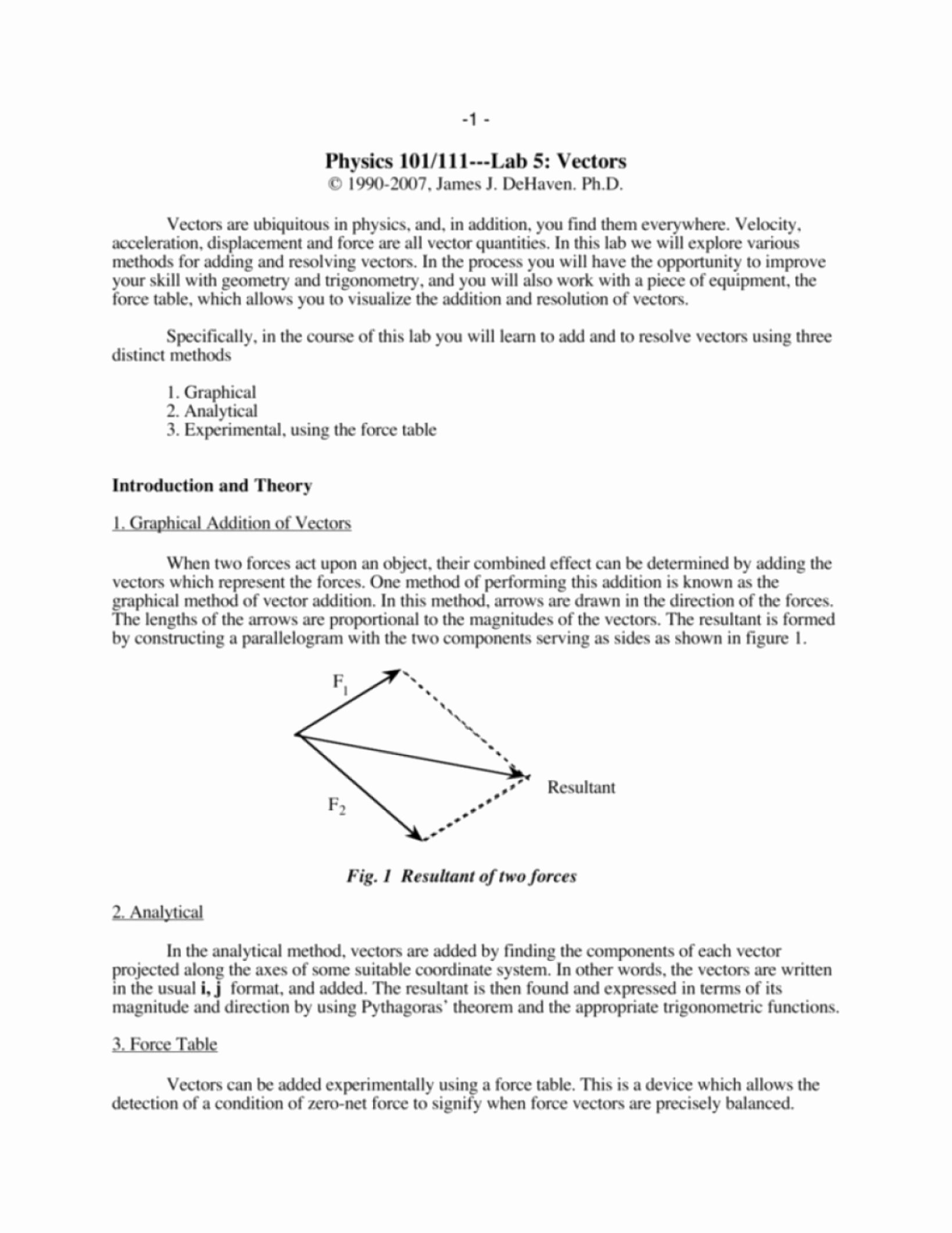 Vector Addition Worksheet with Answers Luxury Resultant Vector Worksheet