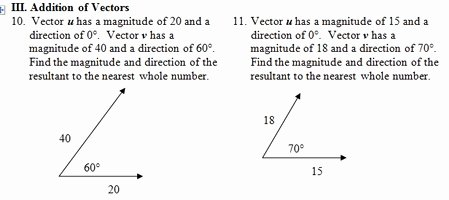 Vector Addition Worksheet with Answers Luxury Vector Worksheet Pdf with Key Focuses On Resultant