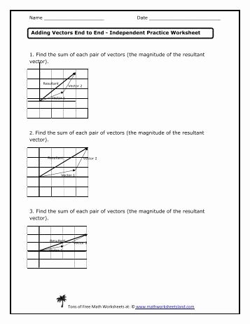 Vector Addition Worksheet with Answers Luxury Worksheet E Answer Key Vector Review and Electrostatics