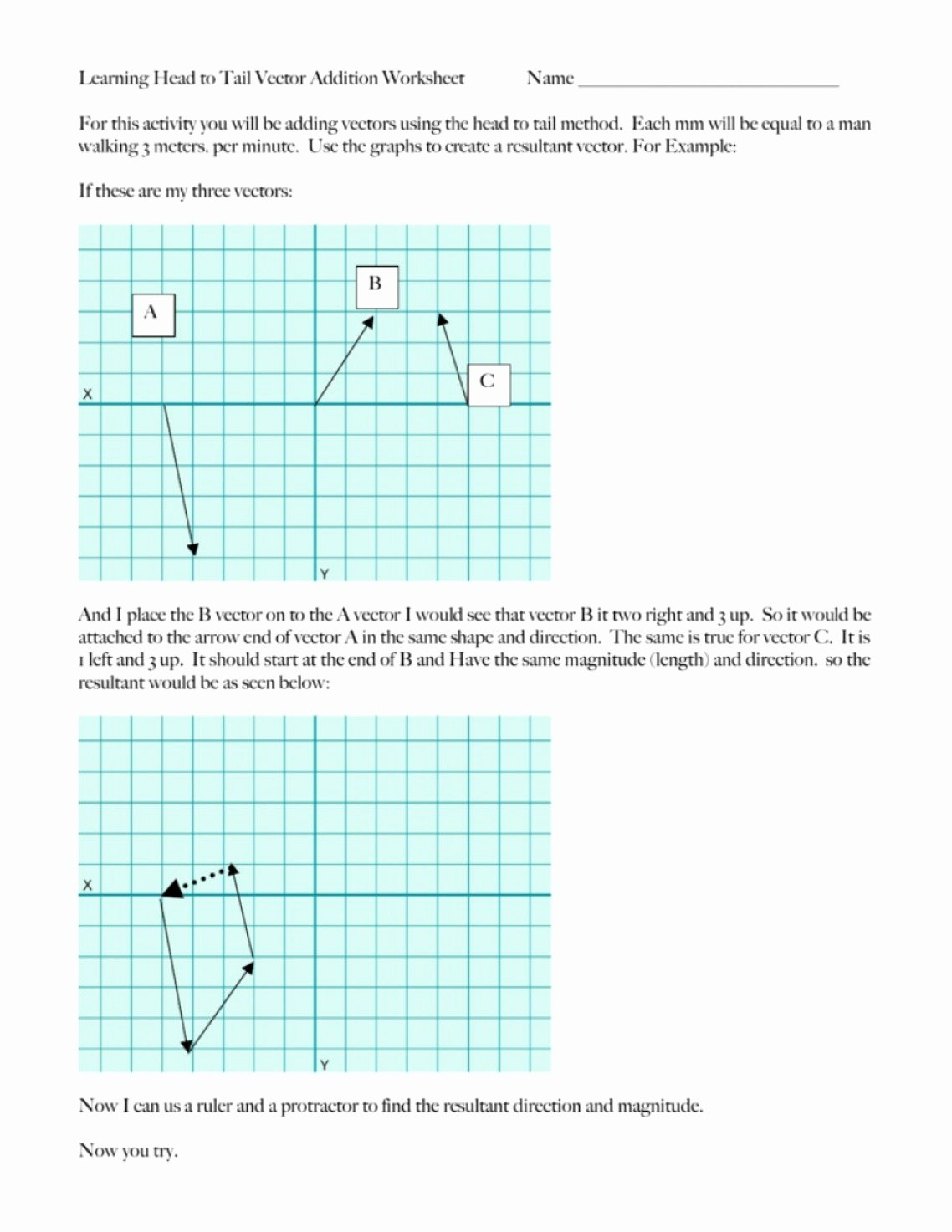 Vector Worksheet Physics Answers Awesome Vector Resolution Worksheet