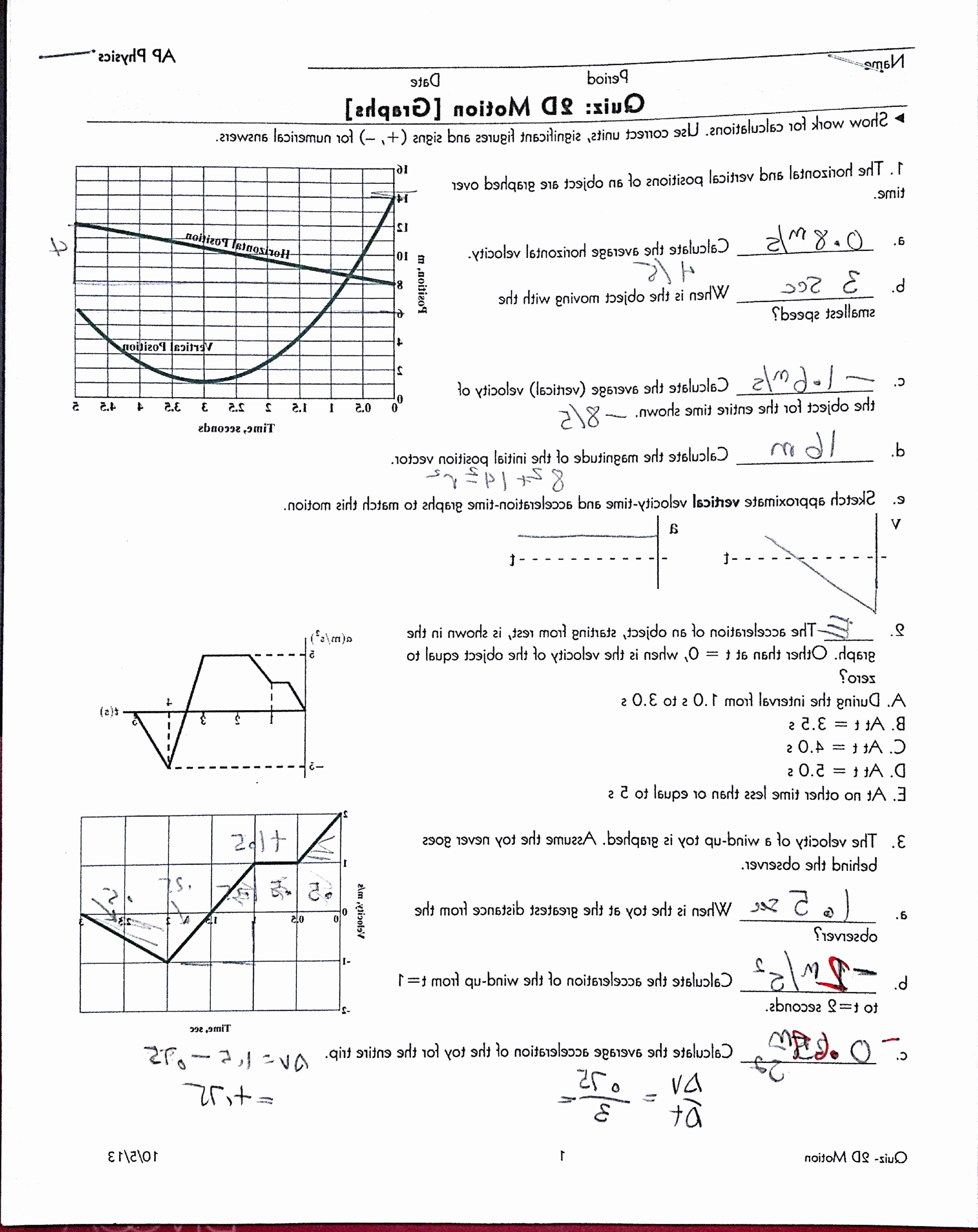 Vector Worksheet Physics Answers Lovely Physics Vector Worksheet Answer Key No 2