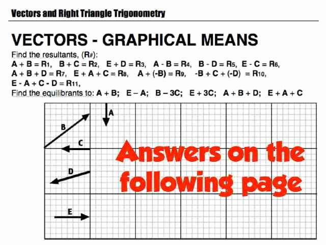 Vectors Worksheet with Answers Beautiful Vectors Worksheet Answers