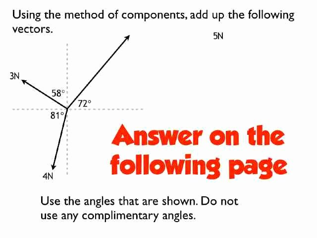 Vectors Worksheet with Answers New Vectors Worksheet Answers