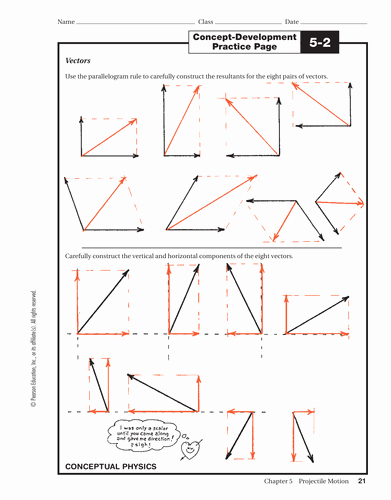 Vectors Worksheet with Answers Unique Parallelogram Of forces Introduction by Chemist19