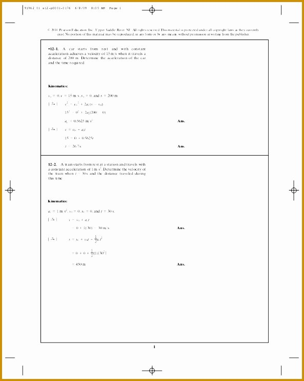 Velocity and Acceleration Calculation Worksheet Beautiful 6 Velocity and Acceleration Calculation Worksheet Answers