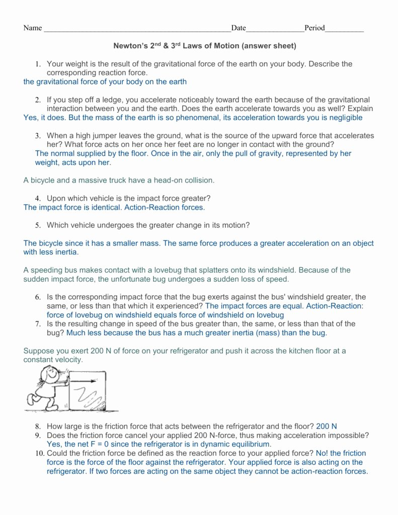 Velocity Worksheet with Answers New Velocity and Acceleration Worksheet Answer Key