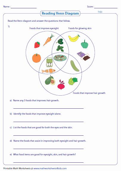Venn Diagram Word Problems Worksheet Best Of Venn Diagram Word Problems Worksheets Three Sets
