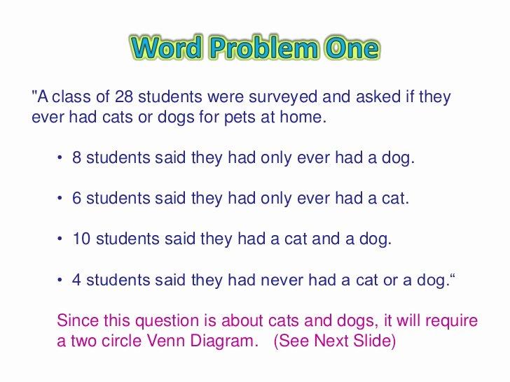 Venn Diagram Word Problems Worksheet Lovely Venn Diagram Word Problems
