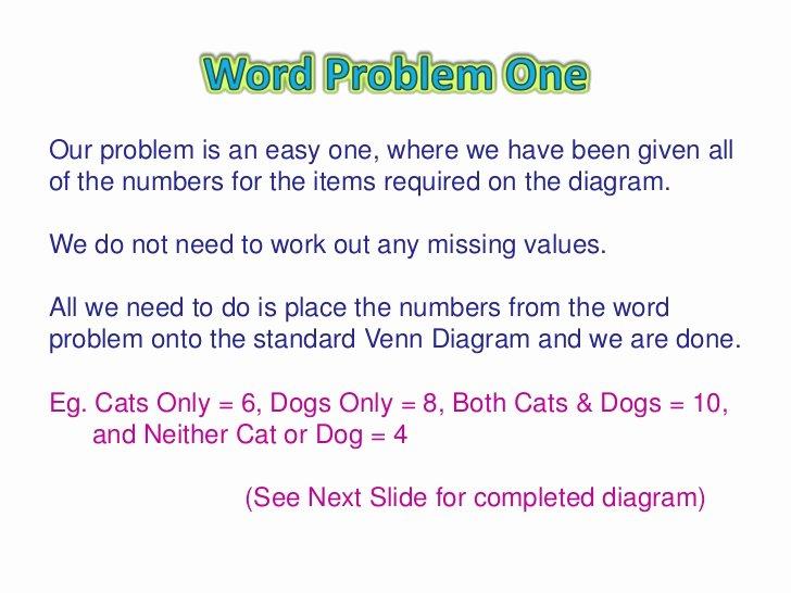 Venn Diagram Word Problems Worksheet New Venn Diagram Word Problems solving Word Problems with