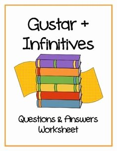 Verbs Like Gustar Worksheet New 1000 Images About Verbs Like Gustar On Pinterest