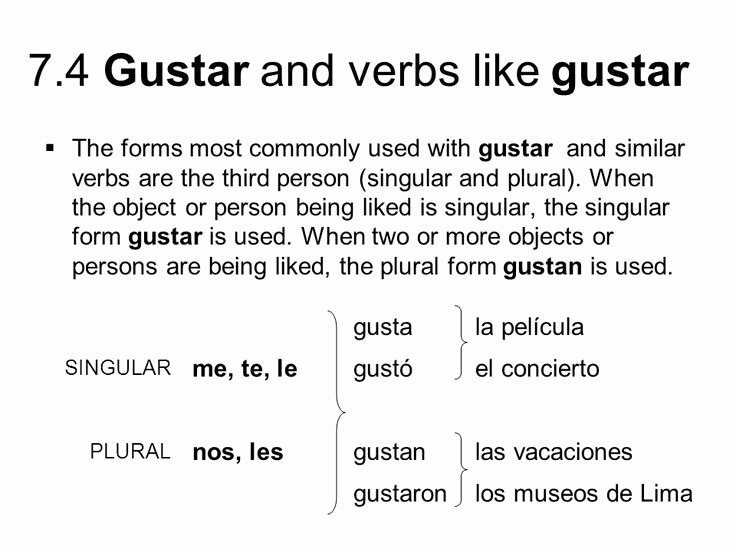 Verbs Like Gustar Worksheet New 17 Best Images About Spanish On Pinterest