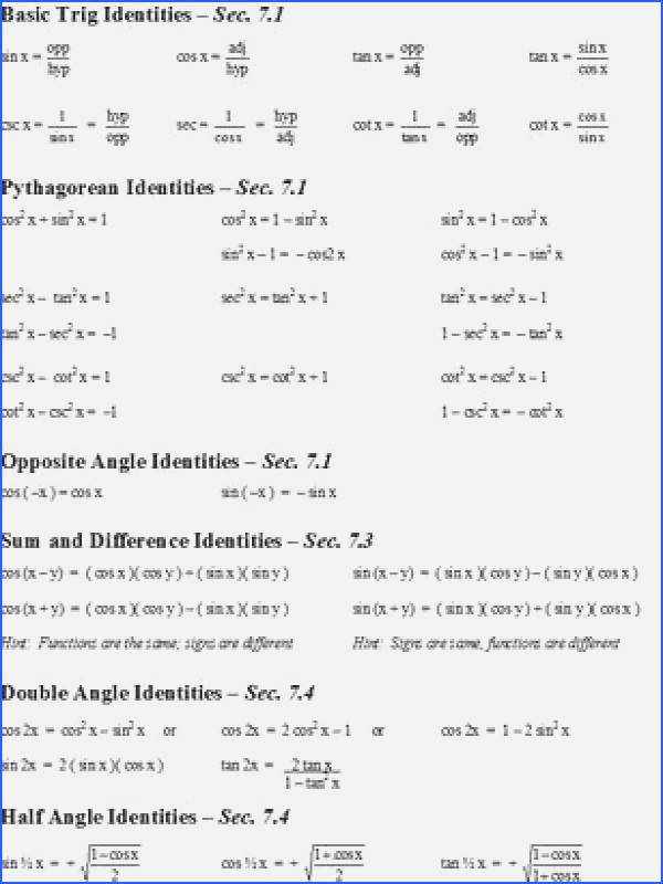 Verify Trig Identities Worksheet Best Of Verifying Trig Identities Worksheet