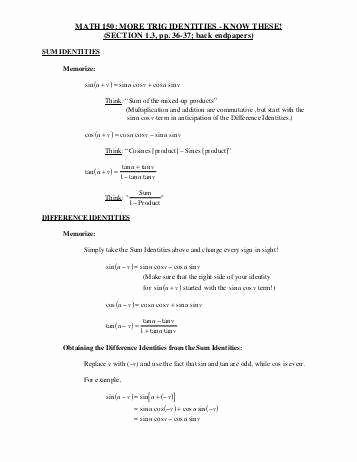 Verify Trig Identities Worksheet Best Of Verifying Trigonometric Identities Worksheet