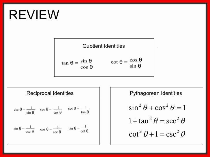 Verify Trig Identities Worksheet Fresh Trigonometric Identities Worksheet
