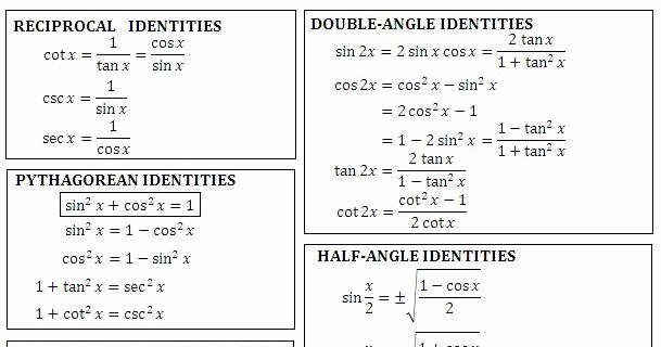 Verify Trig Identities Worksheet Fresh Verifying Trigonometric Identities Worksheet