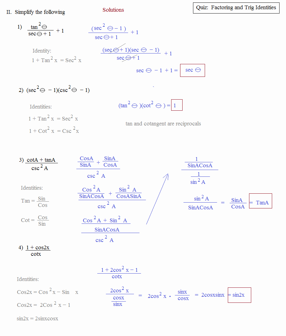 Verifying Trig Identities Worksheet Luxury Worksheet Verifying Trigonometric Identities Worksheet