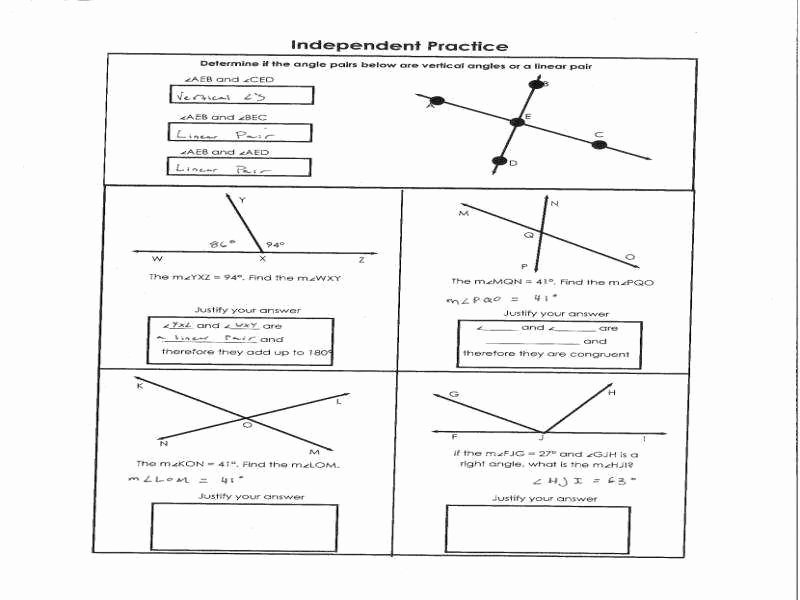 Vertical Angles Worksheet Pdf Beautiful Plementary Angles Worksheet