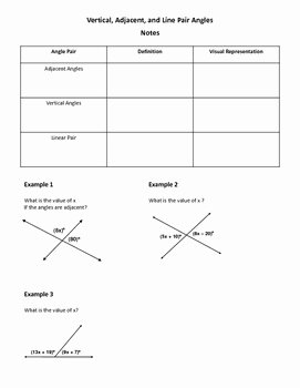 Vertical Angles Worksheet Pdf Best Of Geometry Worksheet Vertical Adjacent and Linear Pair