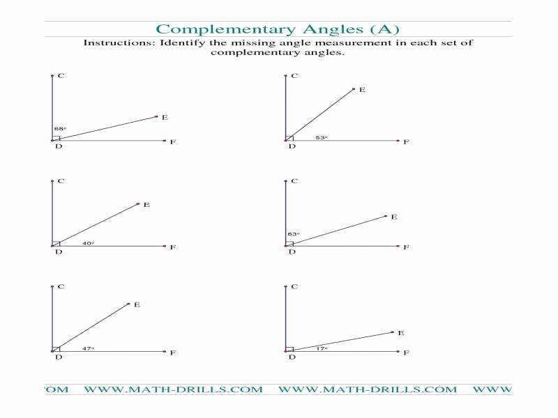 Vertical Angles Worksheet Pdf Fresh Plementary Angles Worksheet