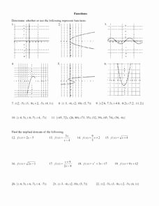 Vertical Line Test Worksheet Fresh Vertical Line Test Lesson Plans & Worksheets