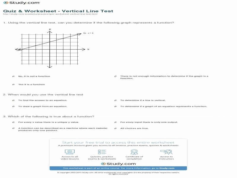 Vertical Line Test Worksheet Inspirational Relations and Functions Worksheet