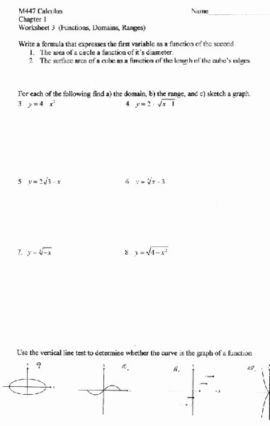 Vertical Line Test Worksheet Unique Vertical Line Test Lesson Plans & Worksheets